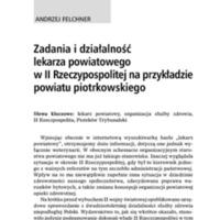 Zadania i działalność lekarza powiatowego w II Rzeczypospolitej na przykładzie powiatu piotrkowskiego.pdf