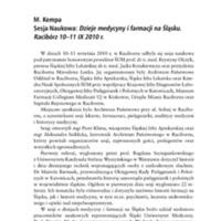 Sesja Naukowa Dzieje medycyny i farmacji na Śląsku.pdf