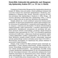Maciej Bilek, Krakowskie izby aptekarskie.pdf